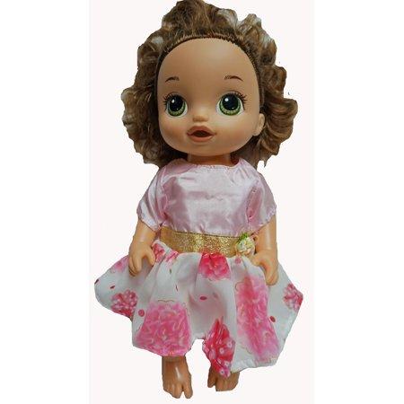 Pink And Flower Fancy Dress fits And Little Baby Doll - Las Vegas Fancy Dress Shops
