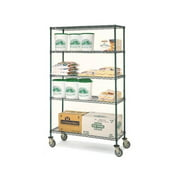 Olympic 18 in. Deep 4-Shelf Mobile Cart - Green (60 in. W x 68 in. H)