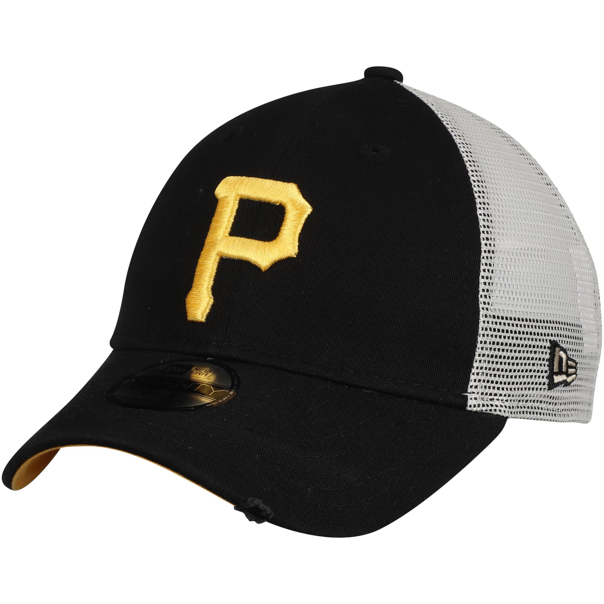 Pittsburgh Pirates New Era Youth Junior Stated Back Trucker 9TWENTY Adjustable Hat - Black - OSFA