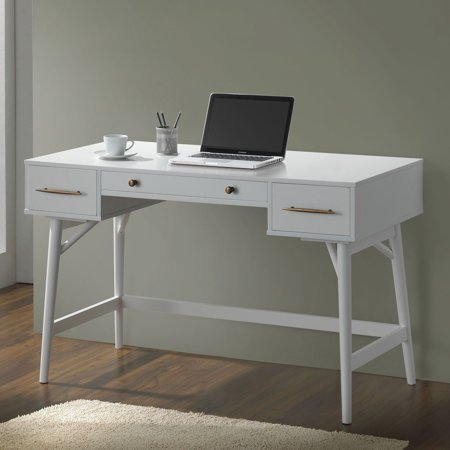 Coaster Mid Century Modern Style Writing Desk In White