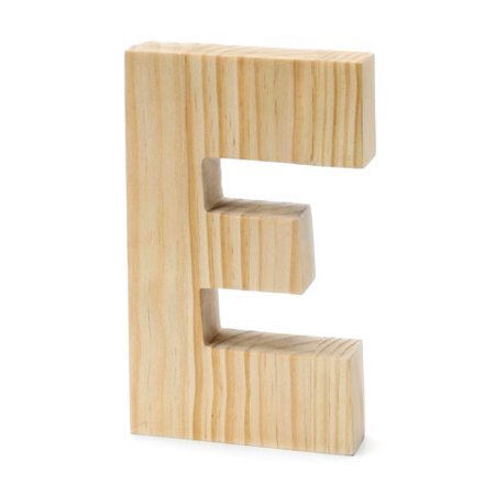(Unfinished Chunky Wood Letter: E - 8 Inches)