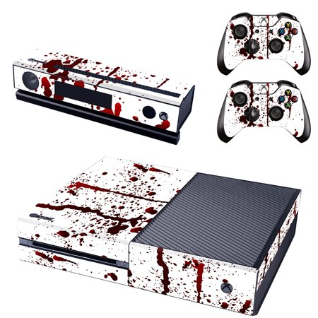Xbox One Console Skin 2x Controller Stickers Decal FacePlate - Blood Splatter (Xbox Faceplate)