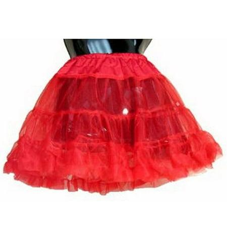 RED PETTICOAT girls kids crinoline skirt undergarment christmas holiday costume - Red Undergarments