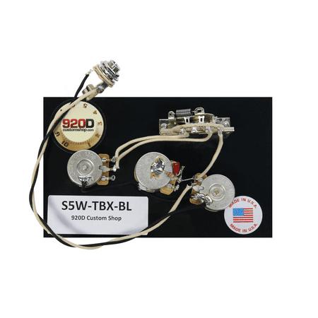 920D Fender Strat Stratocaster Wiring Harness - TBX and Blender Pot