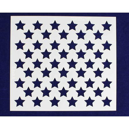 Starwars Pumpkin Stencil (50 Star Field Stencil - US / American Flag - 8.5