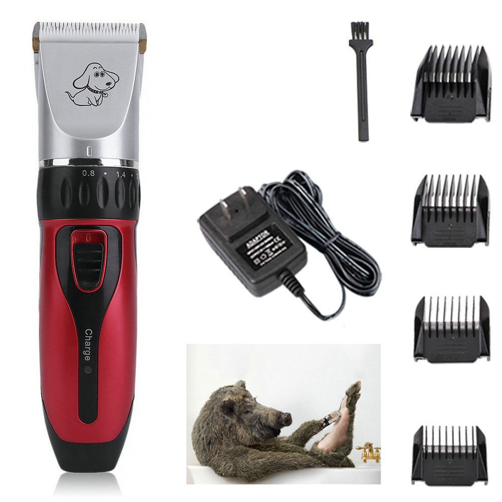 LESHP Pet Clippers, Low Noise Rechargeable Cordless Dog Trimmers Professional Animal Grooming Shavers For Thick Hair Dogs, Cats, Rabbits And Horses
