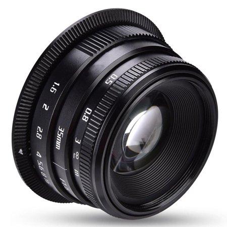 FAGINEY Objectif de mise au point manuelle 35mm f1.6 pour accessoires de photographie, appareils photo sans miroir, objectif de caméra, objectif de caméra sans miroir - image 2 de 8