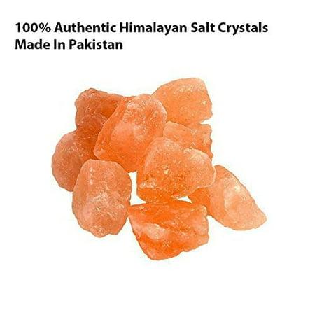 Himalayan CrystalLitez Natural and Pure Himalayan Salt Crystal Rocks 2 LBS Bag of Chunks ,1 to 2 Inches Mixed Size Extra Salt Crystals