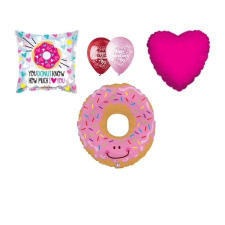 Donut  Valentine's Day Balloon Bouquet Party Balloons Decoration Supplies Love