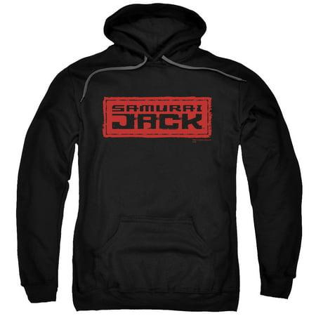 Samurai Jack Red Logo Mens Pullover Hoodie