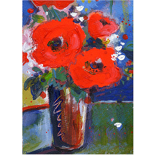 "Trademark Art ""Bouquet II"" Canvas Art by Sheila Golden"