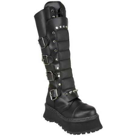 5e7b489375c Demonia - Demonia Ravage-Ii Men s Platform Black Leather Mid Calf Gothic  Punk Boots - Walmart.com