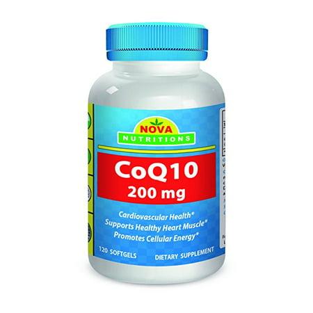 Nova Nutritions Coq10 Coenzyme Q10 200Mg 120 Softgels