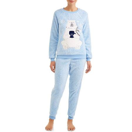 Jamber Set - Jammers Women's and Women's Plus Polar Bear Plush Twosies Set