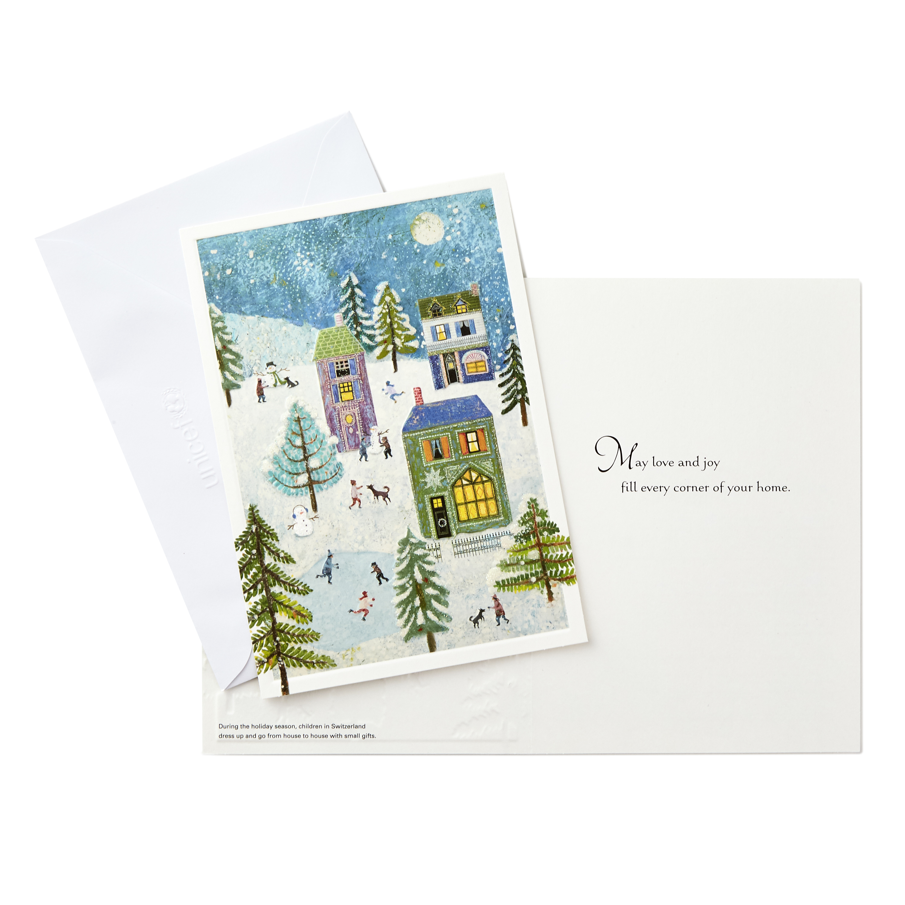 (20 Cards and 21 Envelopes) Hallmark UNICEF Christmas Boxed Cards, Holiday Scene