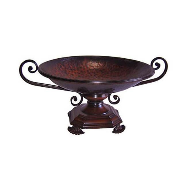 Cheung's  Round Metal Decorative Bowl on Stand - image 1 of 1