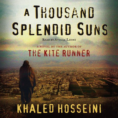 A Thousand Splendid Suns - Audiobook AFTER MORE THAN TWO YEARS ON THE BESTSELLER LISTS, KHALED HOSSEINI RETURNS WITH A BEAUTIFUL, RIVETING, AND HAUNTING NOVEL OF ENORMOUS CONTEMPORARY RELEVANCE.A Thousand Splendid Suns is a breathtaking story set against the volatile events of Afghanistan's last thirty years -- from the Soviet invasion to the reign of the Taliban to post-Taliban rebuilding -- that puts the violence, fear, hope and faith of this country in intimate, human terms. It is a tale of two generations of characters brought jarringly together by the tragic sweep of war, where personal lives -- the struggle to survive, raise a family, find happiness -- are inextricable from the history playing out around them.Propelled by the same storytelling instinct that made The Kite Runner a beloved classic, A Thousand Splendid Suns is at once a remarkable chronicle of three decades of Afghan history and a deeply moving account of family and friendship. It is a striking, heart-wrenching novel of an unforgiving time, an unlikely friendship, and an indestructible love -- a stunning accomplishment.