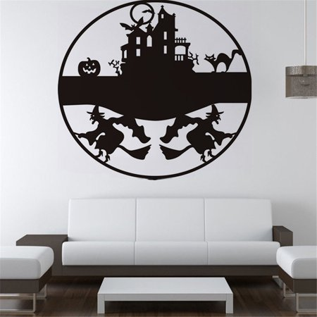 mosunx happy halloween background wall sticker window home