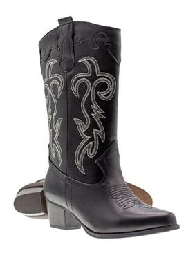 d6a9cbe71f4 Black Womens Western & Cowboy Boots - Walmart.com