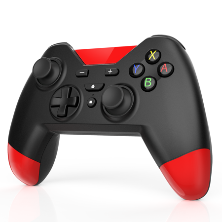 AGPTEK Wireless Controller for Nintendo Switch Compatible with Nintendo Switch Pro Windows and Sony PS3, Built-in Motor 16 Channel Chase Controller