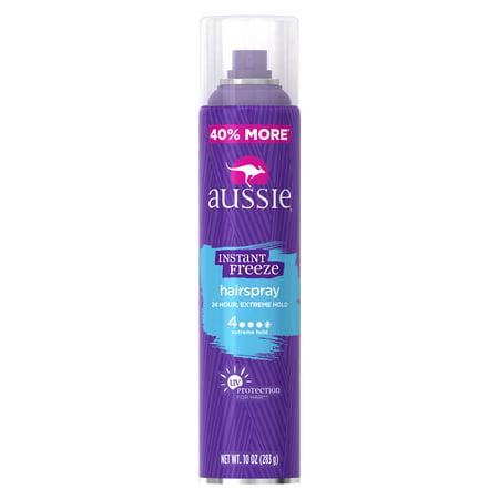 Aussie Instant Freeze Aerosol Hairspray, 10 oz for $<!---->