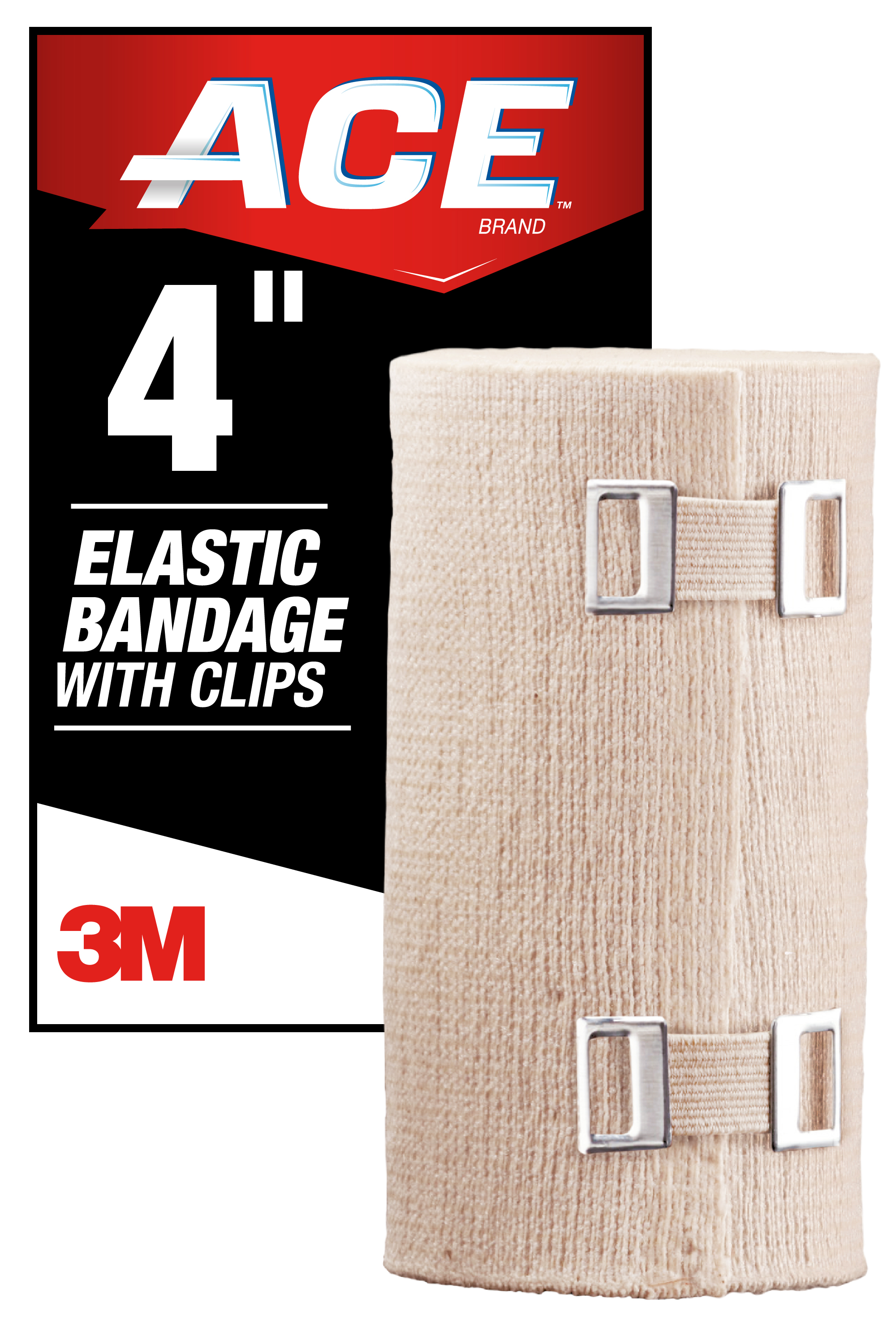 Ace Brand Elastic Bandage W Clips 4 In Soft Discrete Fit