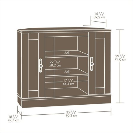 Sauder Harvest Mill Corner Entertainment Stand for TVs up to 35
