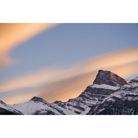 Clouds At Sunset Above Mountain Peaks Kootenay Plains Alberta Canada Posterprint