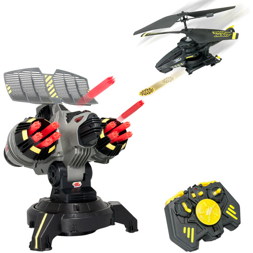 Air Hogs Battle Tracker Helicopter & Robot R/C Set Disc Shooting Heli