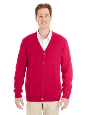 Harriton Mens Pilbloc V Neck Button Cardigan Sweater