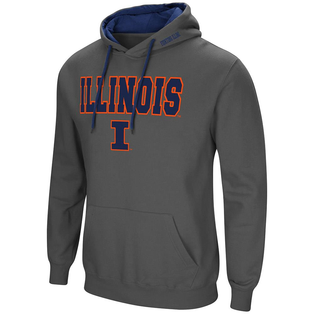 Mens Illinois Fighting Illini Pull-over Hoodie - M