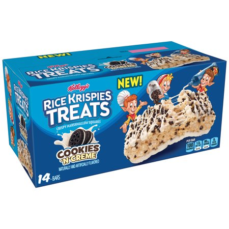 (3 Pack) Kellogg's Rice Krispies Treats Cookies 'N' Creme Crispy Marshmallow Squares 14 Ct 0.78 oz. Packs - Rice Krispie Halloween Treats Pumpkin