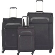 Delsey Dauphine Plus Carry-on - Black 3 Piece Set Spinner