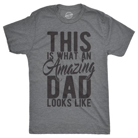 Mens This Is What An Amazing Dad Looks Like Tshirt Funny Fathers Day Tee For Guys - Suits For Guys