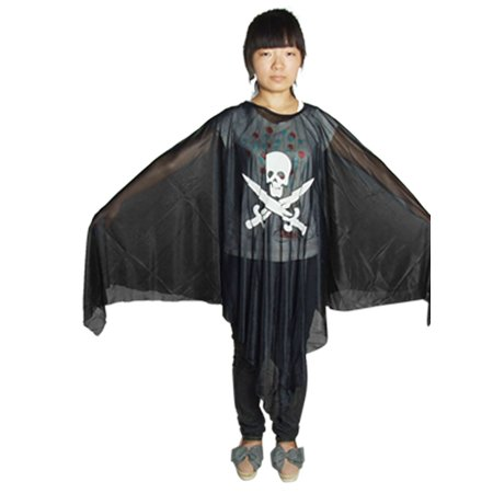 Unique Bargains Adult Halloween Cosplay Costumes Pirate Skull Print Ghost Robe - Unique Costumes
