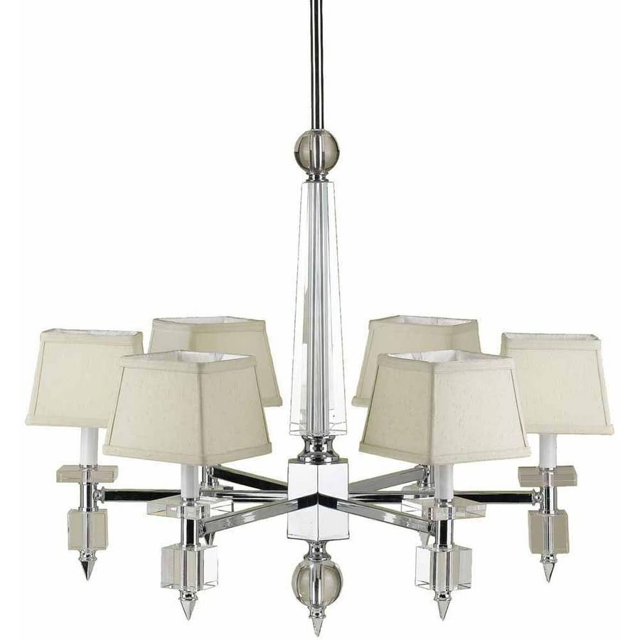 AF Lighting 6679 6-Light Chandelier with Cream Shades