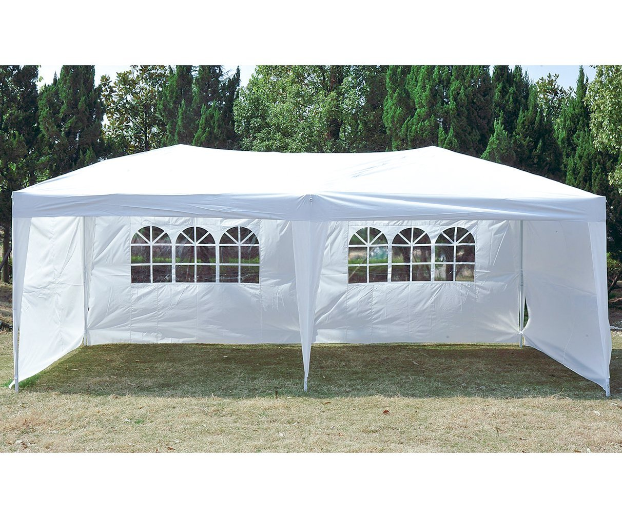 Pop-Up Canopy Tent With Sidewalls 10' x 20' Outdoor Party Gazebo Tent by