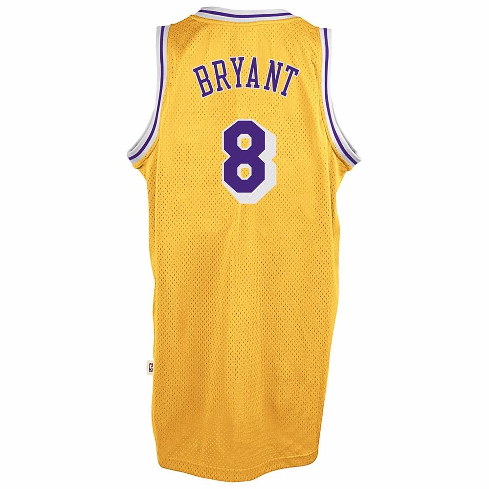Kobe Bryant Los Angeles Lakers NBA Adidas Gold 1996-97 Soul Swingman Throwback Home Jersey For Men (3XL)