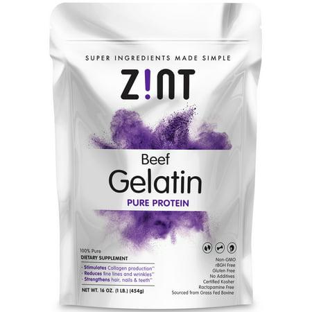 1 Lb Ground Beef Recipes - Zint Unflavored Gelatin Powder - Kosher Beef Gelatin - Pasture Raised 1 Lb