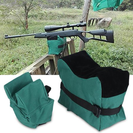 Guy Support (Qiilu Shooting Bag Unfilled Front and Rear Shooters Gun Rest Sand Bags Rifle Support Shooting Bench)
