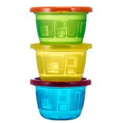 The First Years Take & Toss Snack Cups With Snap-On Lids, Rainbow Colors, 4.5 Oz, 6 Pk