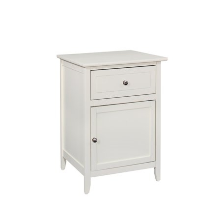 Glory Furniture  Izzy 1-drawer and Cabinet Wooden Nightstand