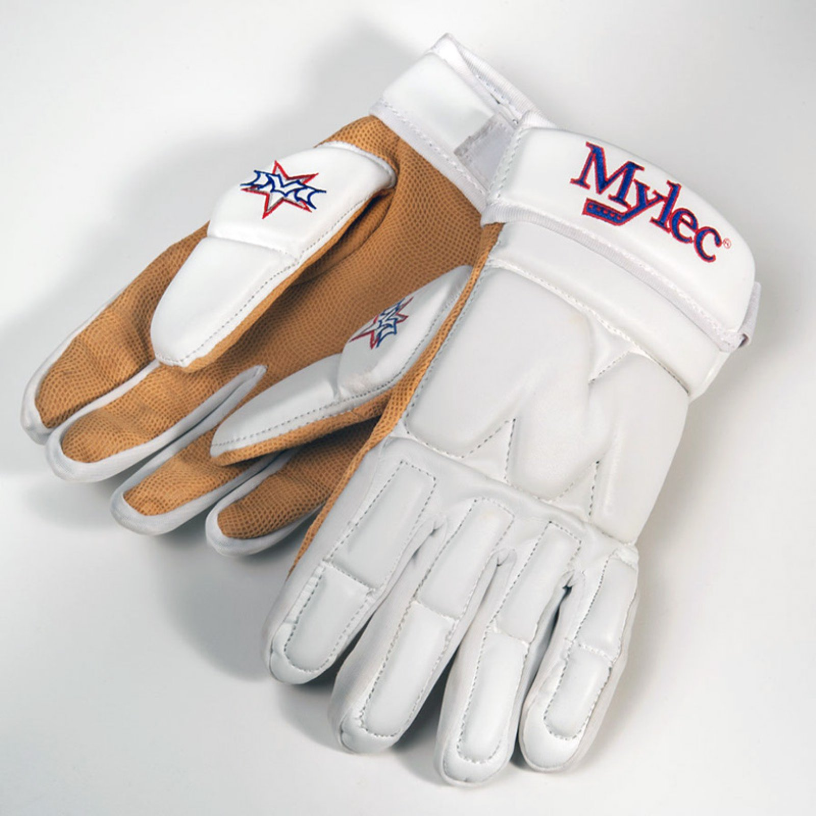 MYLEC Elite Street Dek Hockey Gloves - White