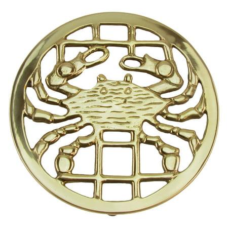 Brass Crab Trivet Hot Stove/Oven Pot/Pan/Tray/Plate/Dish Holder Ocean Home Decor