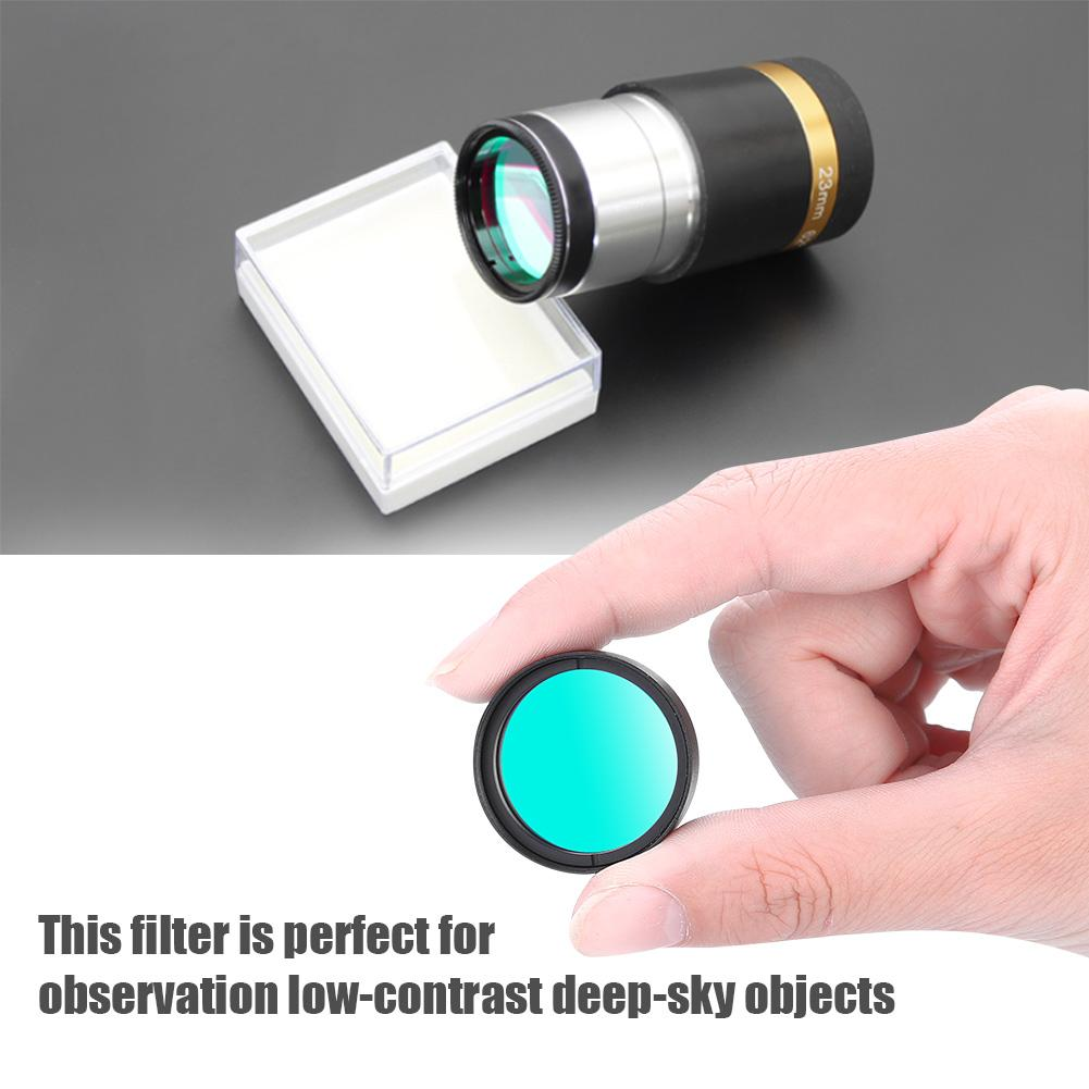 Telescope Filter,1.25inch UHC Telescope Eyepiece High Contrast Filter with M28*0.6mm Thread for Viewing Low-Contrast Deep-Sky Objects Urban and Suburban Observations