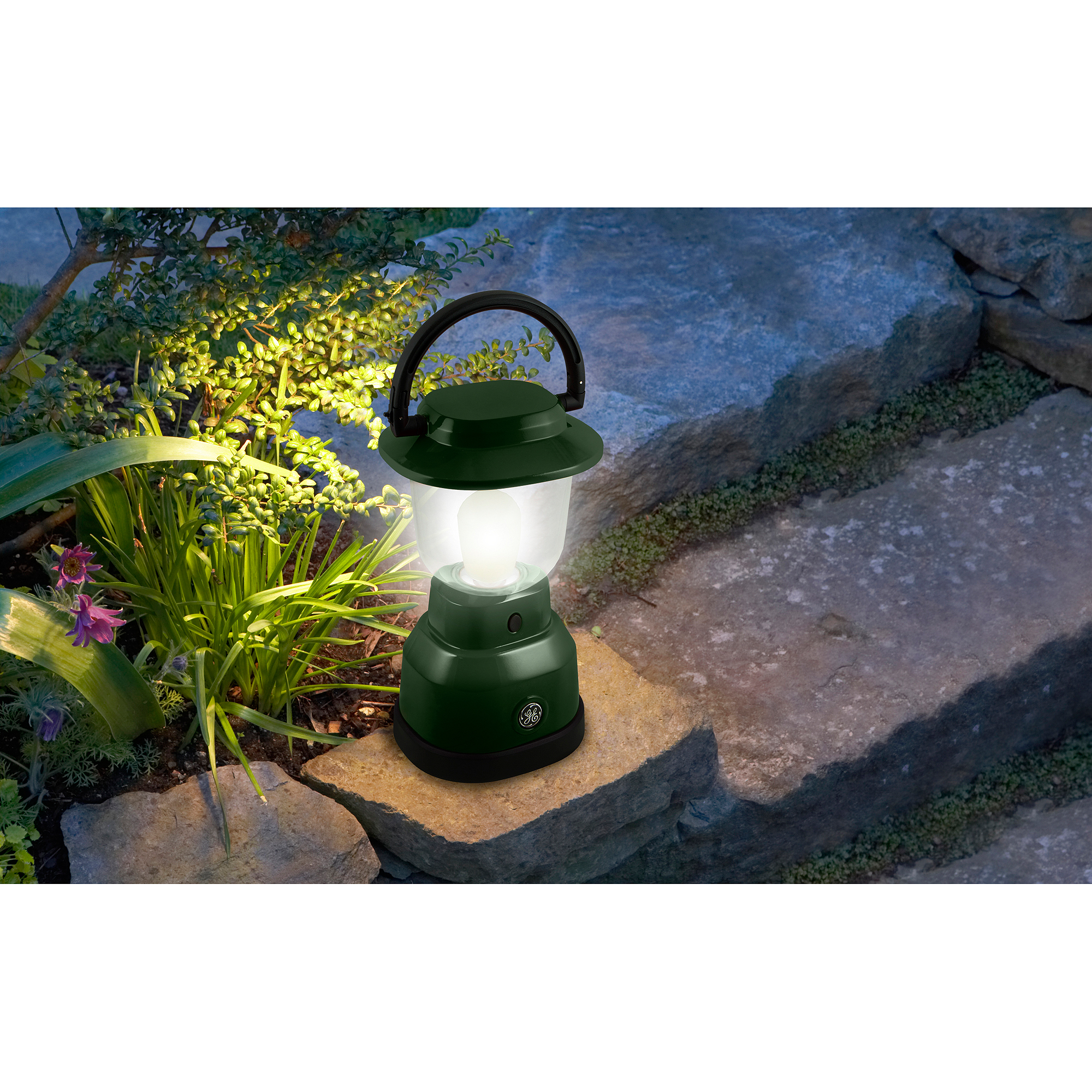 GE Enbrighten Weather-Resistant Dimmable Lantern, Green by Jasco Products