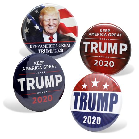 Trump 2020 Presidential Campaign Buttons President Trump Re-election Button 4pc