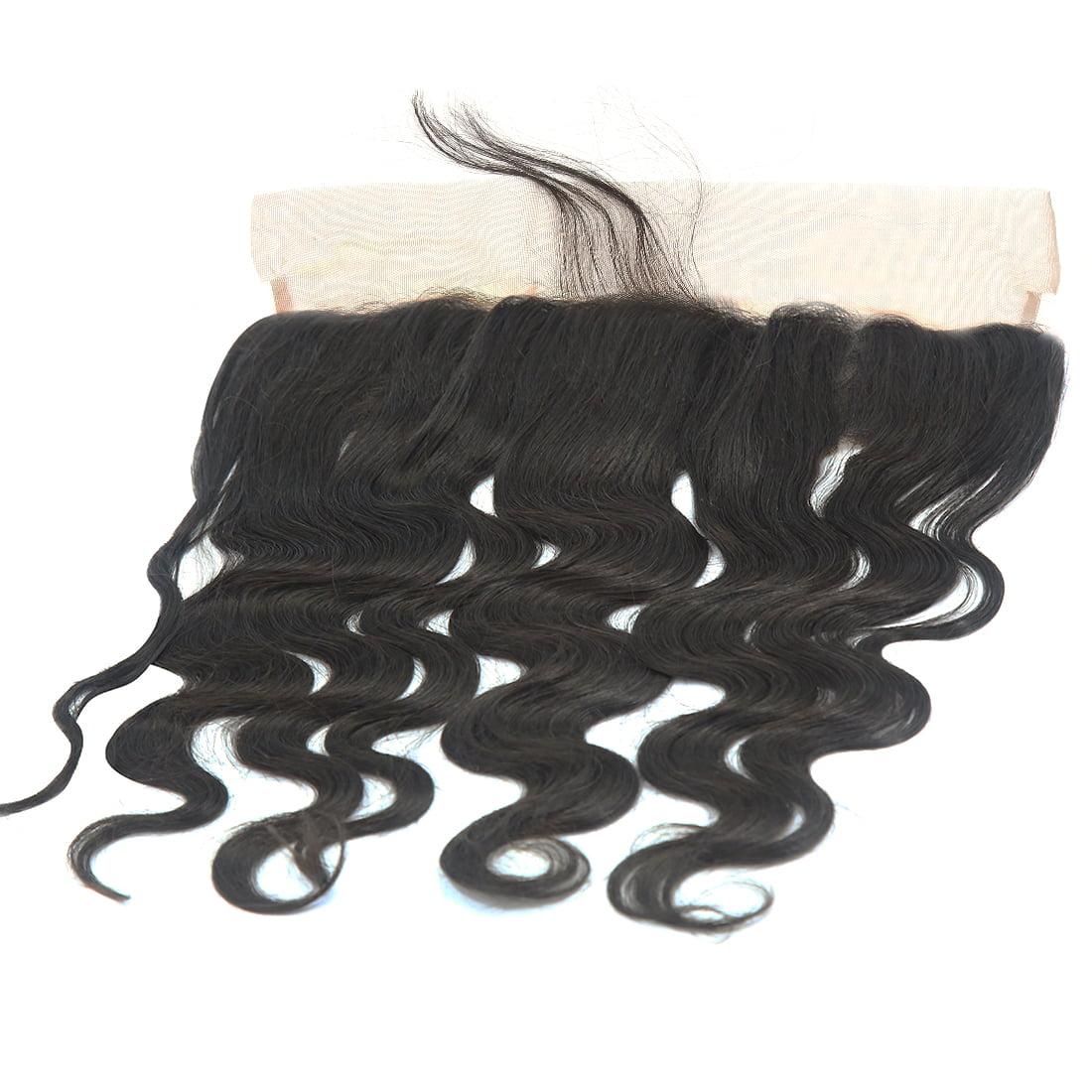 "12"" 13x4 Ear To Ear Lace Closure Free Part Brazilian Hair Extensions Body Wave - image 4 de 7"