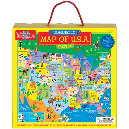 T.S. Shure Map of U.S.A. Magnetic Puzzle on clickable map of usa, electronic map of usa, geophysical map of usa, grid map of usa, yello map of usa, seismic map of usa, digital map of usa, geological map of usa, color coded map of usa, wooden map of usa, barometric pressure map of usa, topographic map of usa, movable map of usa,
