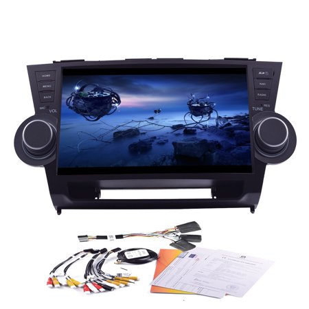 10 2  Android Quad Core 4 4 Built In Gps Navigation Bluetooth Car No Dvd Player Support Wifi Mirror Link Car Stereo Special For Toyota Highlander 2014 Models